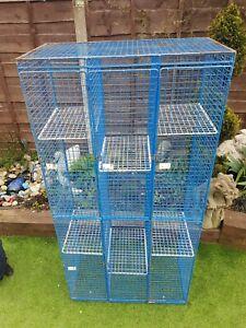 Vintage School Mesh Steel Locker Industrial Cage pigeon holes