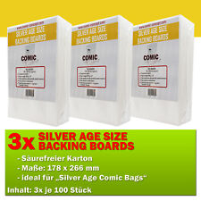 300x Comic Concept Silver Age Boards Hüllenverstärkung (178 x 266 mm)