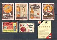 POSTER STAMPS=BEVERAGES ALCOHOL WINE LIQUEUR LIKÖR--7 ST. COGNAC--F/VF--@91