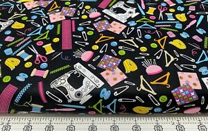 FABRIC NOTIONS SEWING MACHINE SCISSORS 100% COTTON FUN QUILT OR CRAFT