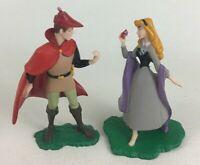 "Sleeping Beauty Lot PVC Figures 3.5"" Princess Aurora and Prince Phillip Disney"