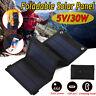 Sunpower 30W 5V Foldable Solar Panel Charger Solar Power Bank USB Outdoor Hiking