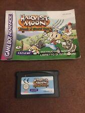 Nintendo Gameboy Advance GBA Harvest Moon amigos de Mineral Town
