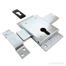 Euro Profile Deadcase Gate Shed Van Garage Lock  Double Throw  Zinc Plated KK160