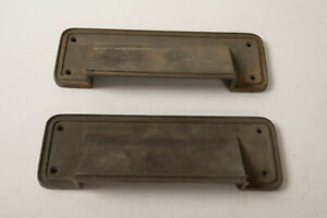"""Pair of Fixed Drop Mail Slots (R5R) Louvered Type Bronze 78072 9"""" by 3"""" Door"""