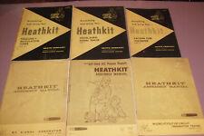 6 Manuales Originales Heathkit T-3, IG-102, HP-1144, IT-18, FM-3, V-7A