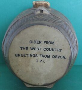 """Cider Barrel Ornament """"Cider from the West Country Greetings from Devon"""" 12x11cm"""