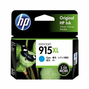 GENUINE Original HP 915XL Cyan Ink Cartridge Toner Officejet 3YM22AA