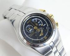 NEW SEIKO Men's Arctura Kinetic Chronograph Stainless Steel Blue Analogue Watch