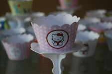 12 Kids Themed Bday Party Cupcake Wrappers - WORLDWIDE FREE SHIPPING