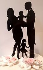 Acrylic family kids baby wedding/anniversary/engagement cake topper decorations