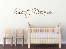 "Wall Quote ""Sweet Dreams"" Wall Art Sticker, Modern Transfer, Vinyl Decal."