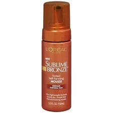 L'Oreal Sublime Bronze Tinted Self-Tanning Mousse Medium Natural Tan B2G 15% OFF
