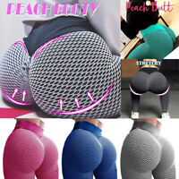 Women Tik Tok Honeycomb Anti Cellulite Leggings Ruched Butt Lift Yoga Pants Gym