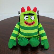 """Ty Brobee Yo Gabba Gabba Plush 7.5"""" Green Stuffed Toy"""