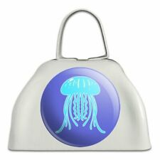 Cute Jellyfish Tentacles Ocean White Metal Cowbell Cow Bell Instrument