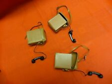 1964 VINTAGE GI JOE JOEZETA :   LOT OF 3 1960's HASBRO BROWN VINYL FIELD PHONES