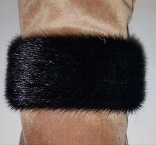 Real Black Arctic Fur Cuff Bracelet One Size