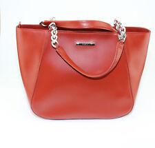Womens Furla Dark Redish Orange Hobo Hand bag Purse Made in Italy New