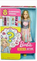 Barbie Doll with 2 Career Looks, 8 Clothing and Accessory Surprises, Blonde Hair