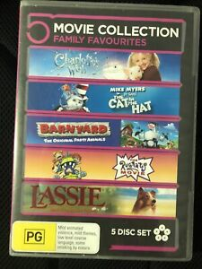 Charlotes Web / Cat In Hat / Barnyard / Rugrats / Lassie DVD 5 Disc Region 4