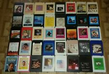 Lot of 40 Vintage 8 Track album Tapes ... Various Artist -  country rock oldies