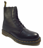 Dr Martens Unisex 1460 Brady 10mm Faux Sherling lined Black Leather Ankle Boots