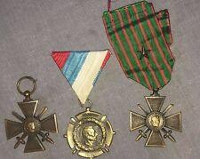 Lot croix de guerre 14/18 et médaille Serbe.