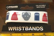 Dr Who Bracelet Wristband Rubber Official New White Daleks Tardis Cyberman