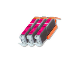 3 Pk Magenta Ink Cartridge w/ LED for CLI-271XL MG5720 MG5721 MG6820 MG7720
