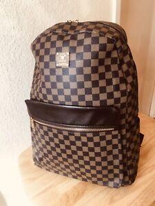 Brown Unisex Desinger Inspired Backpack Rucksack Uni College Travel Holiday Bag