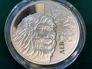 Ukraine , 5 UAH , The Lion , silver coin 2017 year