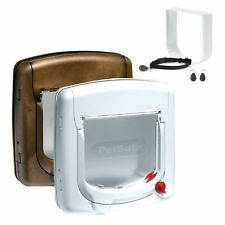 More details for cat flap petsafe staywell deluxe 4 way locking cat door manual magnetic catflap