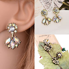 Good quality Vintage Jewelry Crystal Stud Earring Women Statement earringsGift!