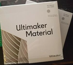 Ultimaker Silver Metallic PLA 750g - two brand new unopened boxes