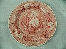 Spode Red/Cranberry Ware Dinner Plate Botanical Georgian Series