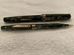 Wahl Eversharp fountain pen Pencil Set Kashmir Gold Seal 1930's
