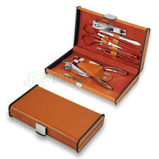 10PCS Pedicure / Manicure Set Nail Clippers Men/Women Travel Grooming Kit Case
