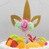New Cupcake Topper Bunting Banner Party Birthday Wedding Unicorn Cake Decor Flag