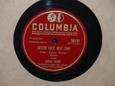 DINAH SHORE Better Luck Next Time/Steppin Out With My Baby 78 Columbia 38191 vg+