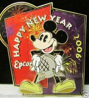 Disney WDW Happy New Year Mickey Mouse Epcot Artist Proof AP Pin