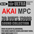 30 DVD'S 130 GB AKAI MPC 2000 XL 4000 3000 60 STUDIO RENAISSANCE TOP SAMPLES