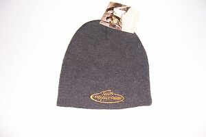 TEAM REALTREE GRAY KNIT BEANIE ADULT ONE SIZE FITS MOST WINTER CAP HAT NWT!