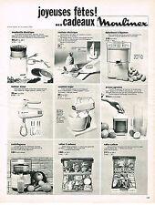 PUBLICITE ADVERTISING 014   1969   MOULINEX  ustensils de cuisisne éléctroménage