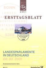 BRD 2001: Landtag in Dresden! Ersttagsblatt Nr. 2172 mit Bonner Stempel! 1A 1602