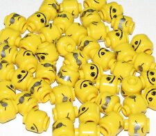 LEGO LOT OF 50 NEW SCRIBBLE FACE MOVIE SERIES BAD COP DUAL SIDED HEADS PARTS