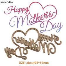 Happy Mother's Day Cutting Die Stencil Embossing DIY Craft Album Card Decor