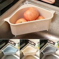 Kitchen Sink Corner Rack Triangle Storage Drain Strainer Holder Shelf Container