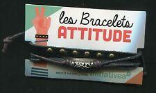 Les BRACELETS Attitude : Bracelet en simili-cuir neuf jamais porté.