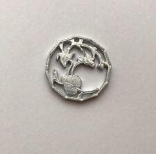 1983 Cyprus 1/2 Cent Cut Coin